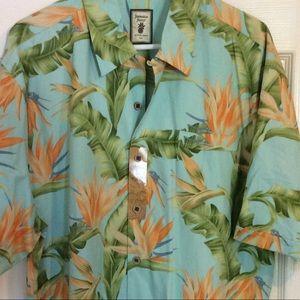 Men Jamaica JAXX Casual Hawaiian Shirt XL NWT